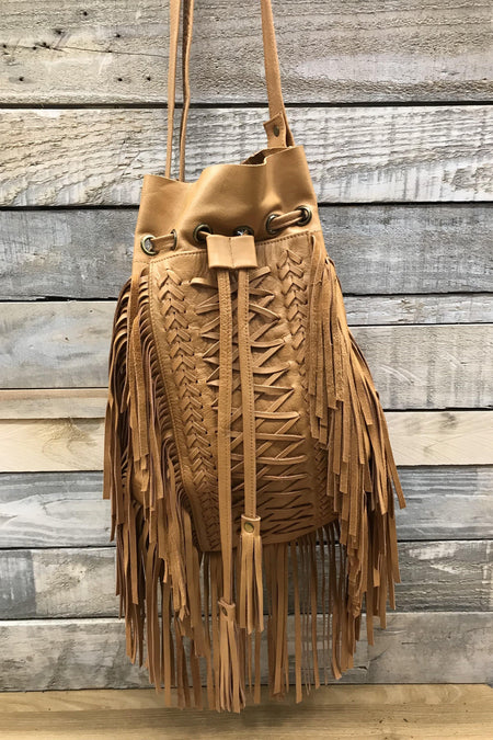 Peacock Carved Leather Bag