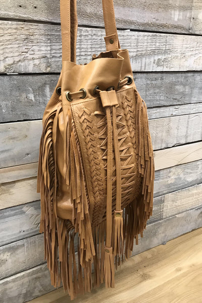 Cheyenne Leather Tassle Bag | Bohemian Style by Tonketti