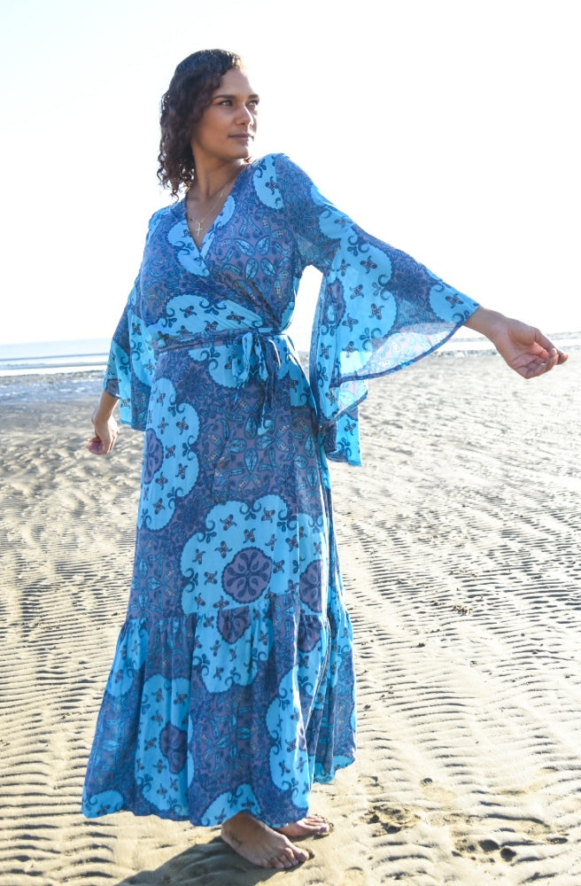Lulu Print Saradon Maxi Dress