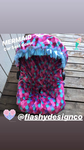 MERMAID MINKY!  Car Seat Cover
