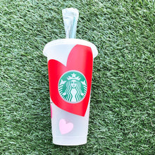 Load image into Gallery viewer, Valentine's XOXO Custom Starbucks Reusable Tumbler