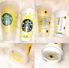 Load image into Gallery viewer, Sunflower Custom Starbucks Reusable Tumbler