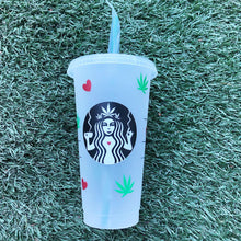 Load image into Gallery viewer, Cannabis Love Custom Starbucks Reusable Tumbler