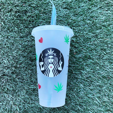 Valentine's Cannabis Custom Starbucks Reusable Tumbler