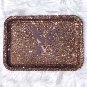 Glittered Fashion Custom Rolling Trays (MORE CHOICES)