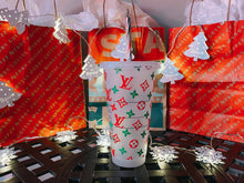 Load image into Gallery viewer, LV Starbucks Reusable Tumbler Personalized