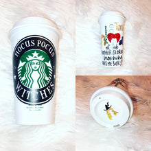 Load image into Gallery viewer, Hocus Pocus Personalized Starbucks Reusable Tumbler