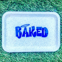 Load image into Gallery viewer, Baked White Glittered Rolling Tray