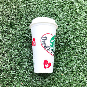 Devil's Lettuce & Coffee Custom Starbucks Reusable Tumbler