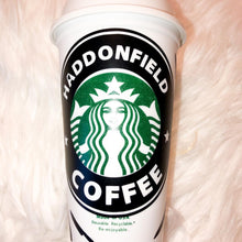 Load image into Gallery viewer, Haddonfield Coffee Custom Starbucks Reusable Tumbler