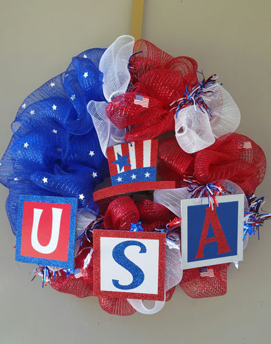 USA 4th OF JULY! Wreath