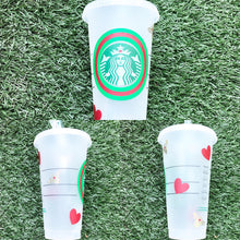 Load image into Gallery viewer, Queen Bee Valentine Custom Starbucks Reusable Tumbler