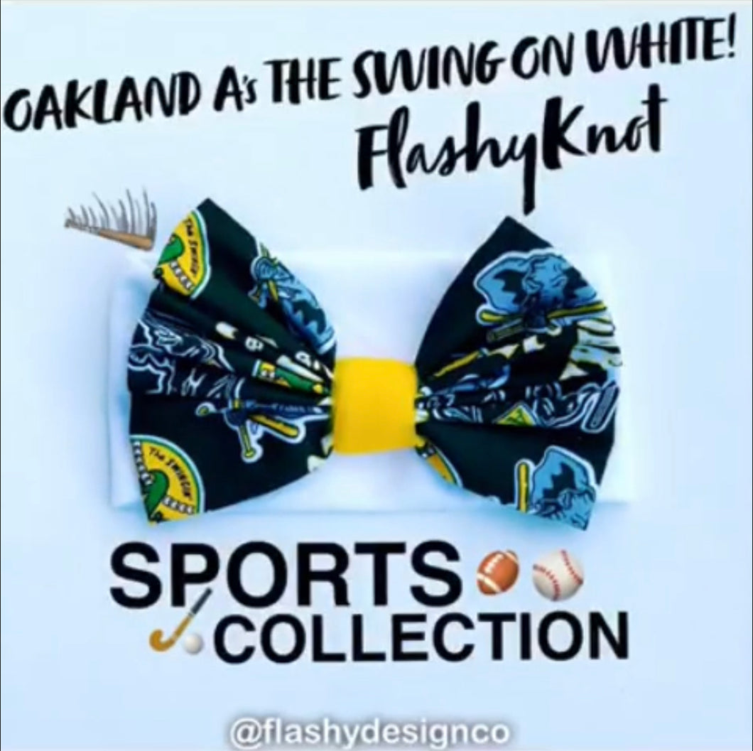 OAKLAND A'S!  Flashy Knot