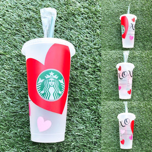 Valentine's XOXO Custom Starbucks Reusable Tumbler