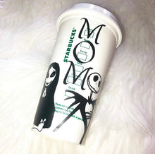 Load image into Gallery viewer, Nightmare Before Coffee Custom Starbucks Reusable Tumbler