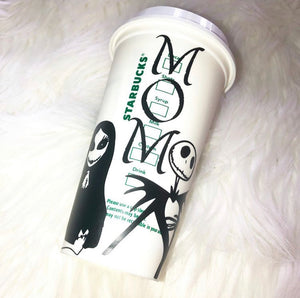 Nightmare Before Coffee Custom Starbucks Reusable Tumbler