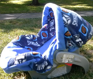 Titians Theme Inspired Infant Car Seat Cover
