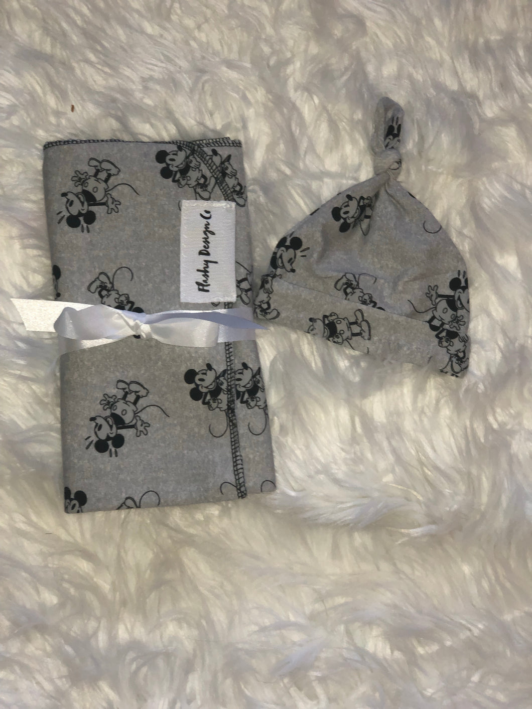 Vintage Mickey Swaddle Set