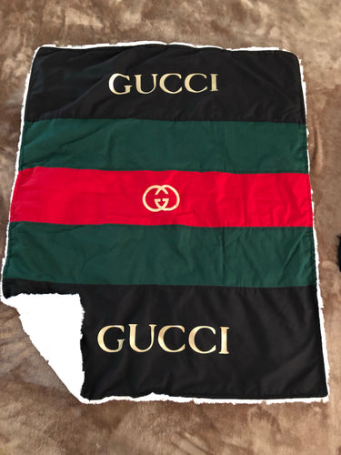 Life is Gucci Baby Blanket