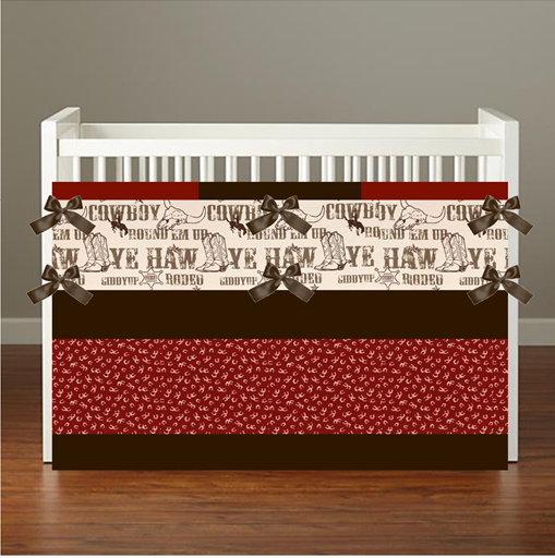 COWBOY RODEO Crib & Toddler Bedding