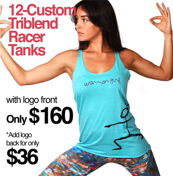 12-PACK TRIBLEND RACER TANK CUSTOM LOGO OR BACK