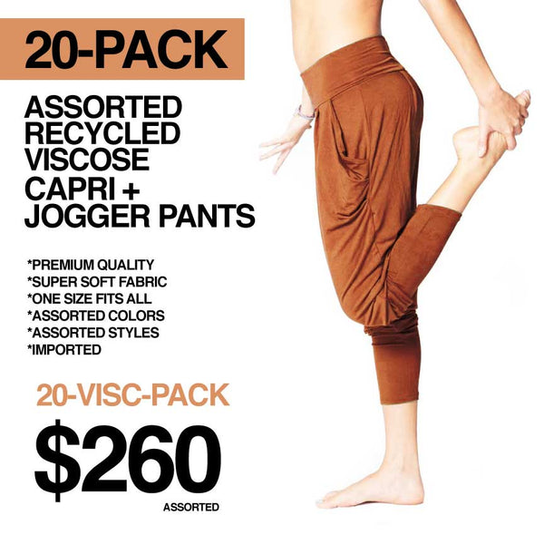 20-PACK LADIES ASSORTED PREMIUM VISCOSE PANTS