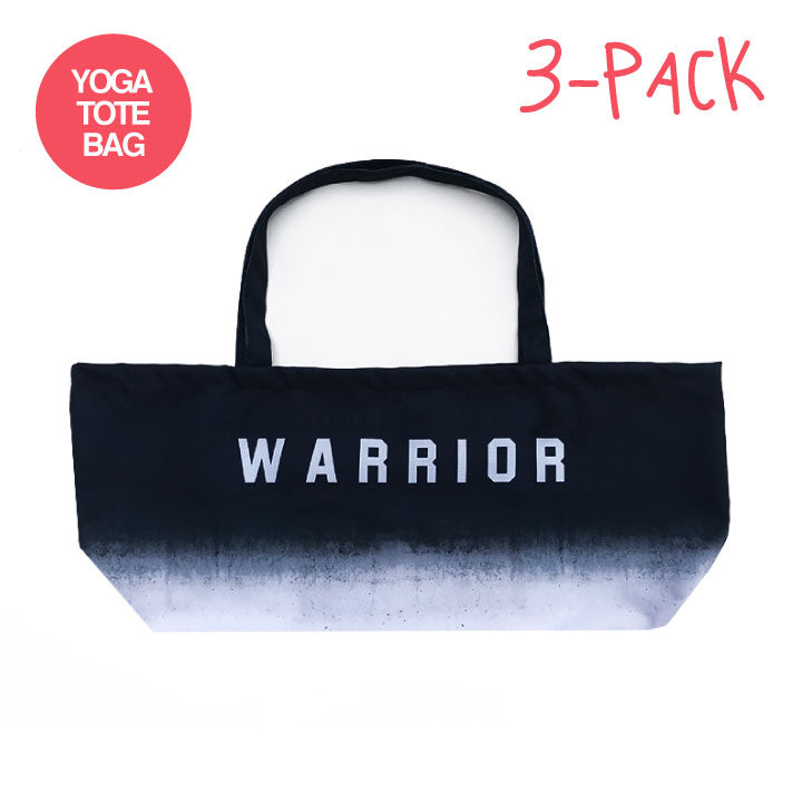 3-PACK WARRIOR OMBRE ~ WATERPROOF RECYCLED YOGA TOTE BAG 32X10