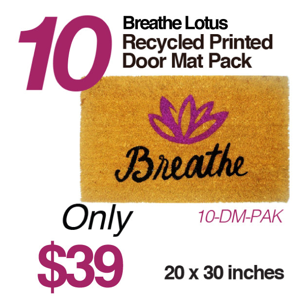 10-PACK BREATHE LOTUS DOOR MAT FY262-DM-NT CLOSEOUT