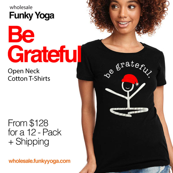 12-BE GRATEFUL WOMEN OPEN NECK COTTON T-SHIRTS