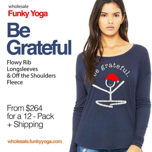 12-BE GRATEFUL WOMEN LONG SLEEVE WITH LOGO FRONT + BACK