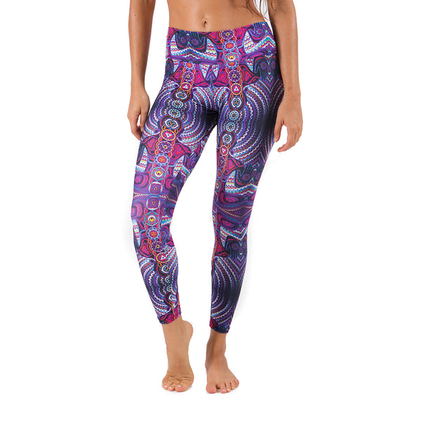 CHAKRAS PURPLE ~ SUPER SOFT & LIGHT MICRO  SUEDE YOGA PANTS (FITTED)MSP04-CP