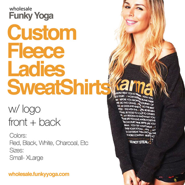 8-PACK FLEECE LADIES CUSTOM LOGO FRONT + BACK
