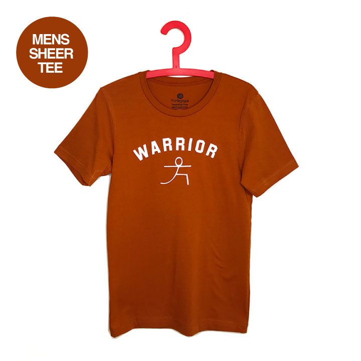 WARRIOR POSE ~ AUTUMN MENS SHEER JERSEY FITTED CREW T-SHIRT FY425-MST-AU