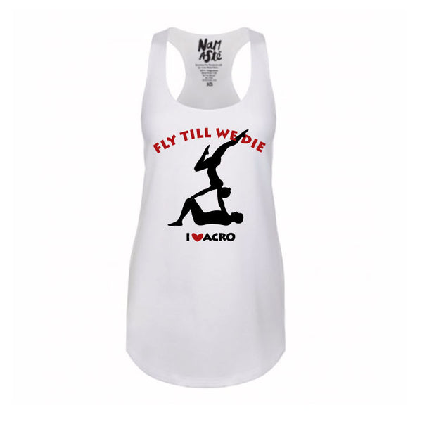 12-CUSTOM PACK WOMEN COTTON RACER TANKS WITH LOGO FRONT + BACK