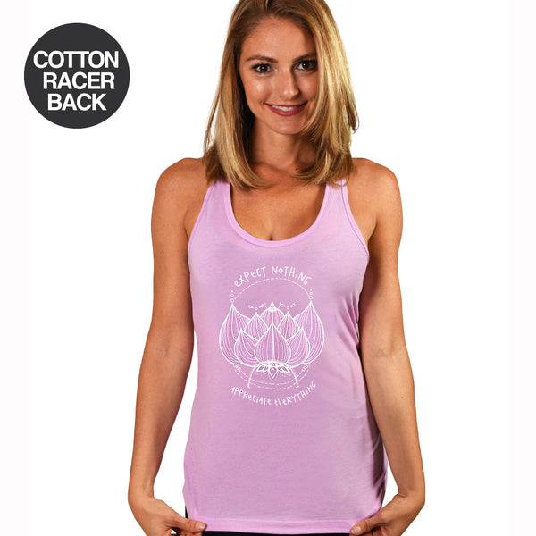 24-PACK ASSORTED COTTON RACER TANKS WITH  LOGO FRONT ONLY (FREE SHIPPING)
