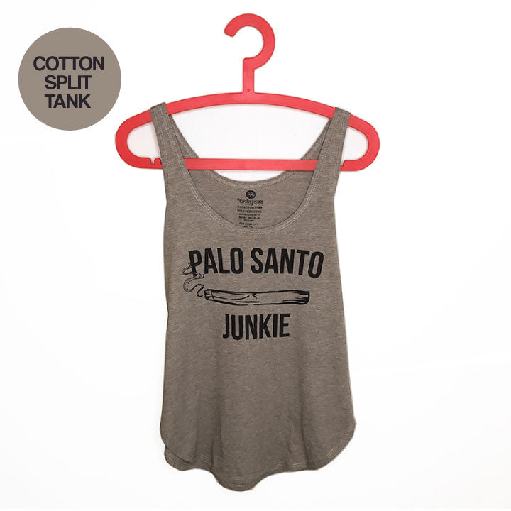 PALO SANTO JUNKIE ~ ASH COTTON SPLIT TANK FY665-CST-AS