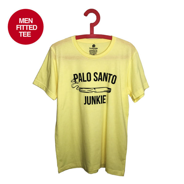 PALO SANTO ~ LIGHT YELLOW MENS SHEER FITTED CREW TEE FY665-MST-LY