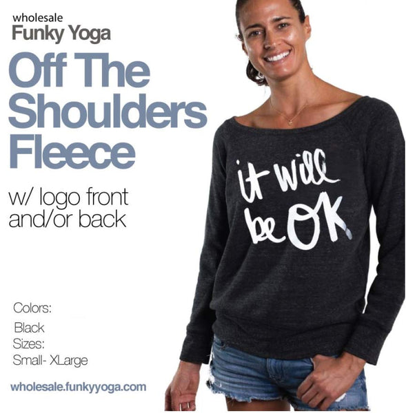 6-PACK BESTSELLERS BLACK OFF THE SHOULDERS FLEECE (SAVE 20%) DELIVERY 8-10 DAYS