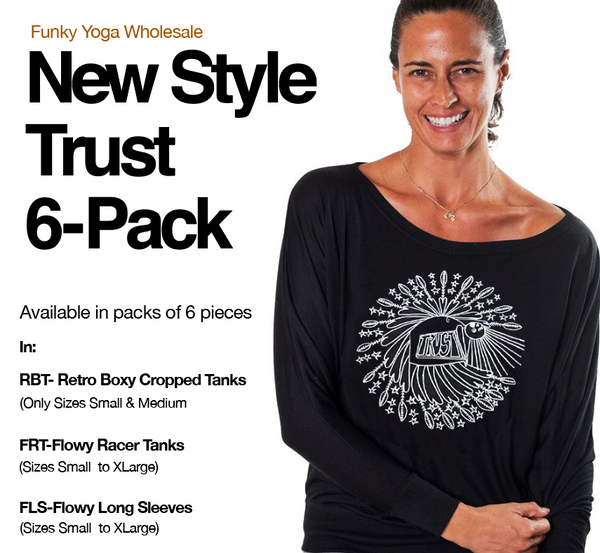 NEW STYLE TRUST ~ 6-FLOWY PACKS CROPPED & RACER TANKS / FLOWY LONG SLEEVE