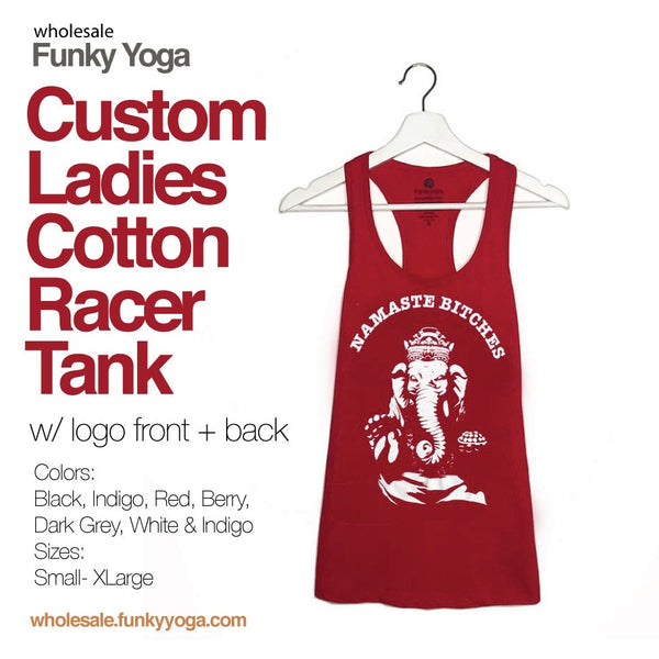36-PACK ~ LADIES ASSORTED COTTON RACER TANK