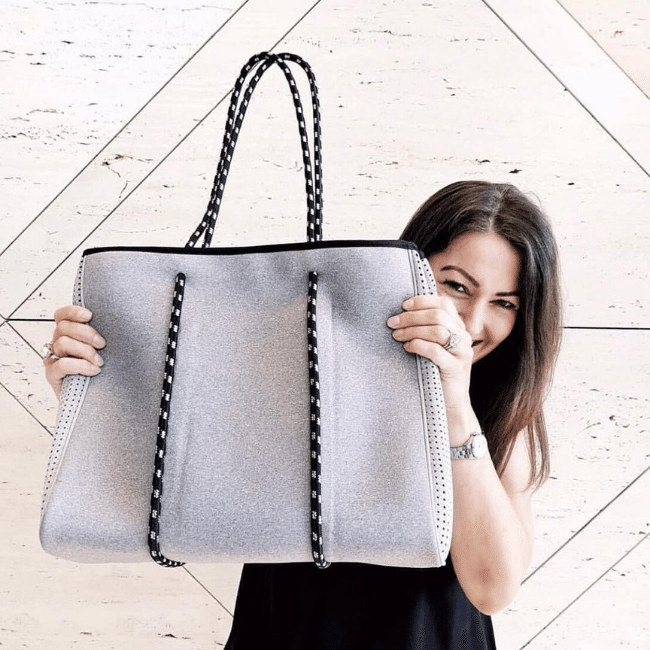 grey neoprene bag - chuhcka