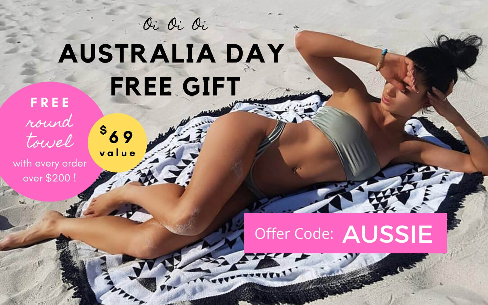Chuchka Australia Day free round towel offer