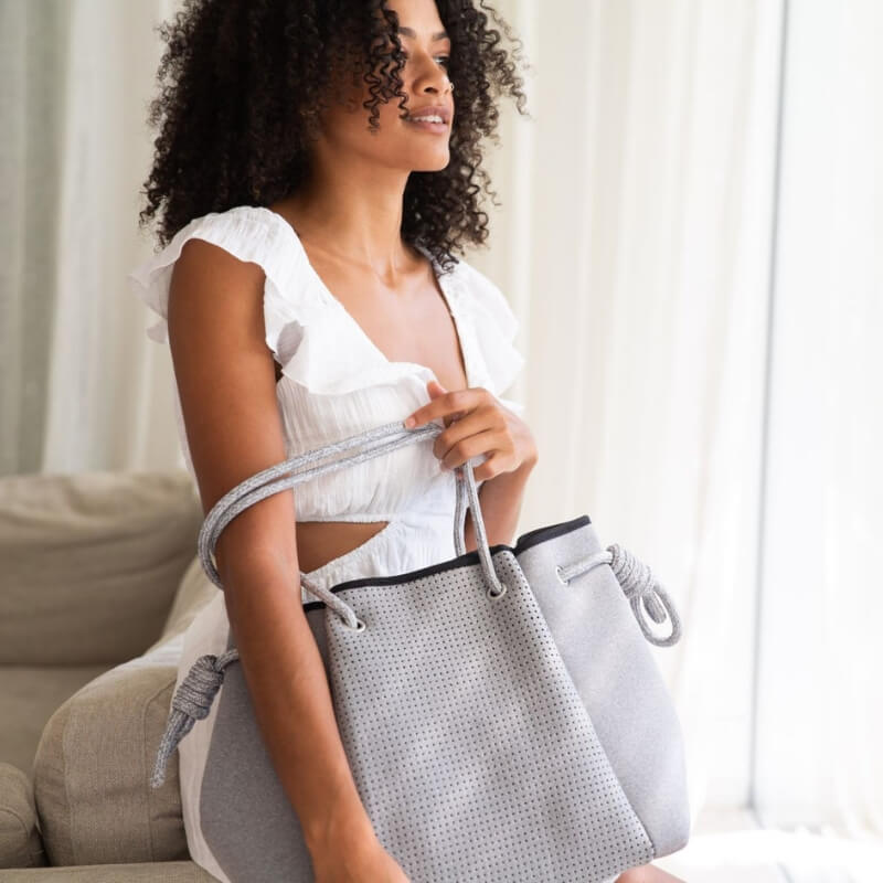SS19 Sweat Collection Lookbook - Coco Nappy Bag - Grey -Chuchka