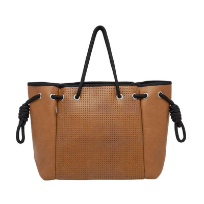Koto Vegan Leather Tote (Tan) - Chuchka