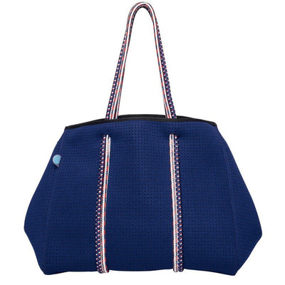 Nene Navy Neoprene Tote Bag (Double Strap) - Chuchka