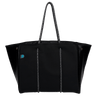 Sami Black Neoprene Tote Bag (Metallic Sides) - Chuchka