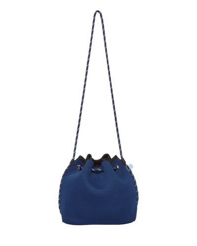 Delia Navy Neoprene Bucket Bag - Chuchka