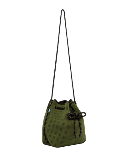 Jillian Khaki Neoprene Bucket Bag - Chuchka