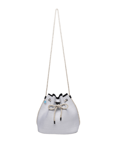 Madi White Neoprene Bucket Bag - Chuchka