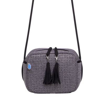 Claudi Neoprene Crossbody Bag (Grey/Black) - Chuchka